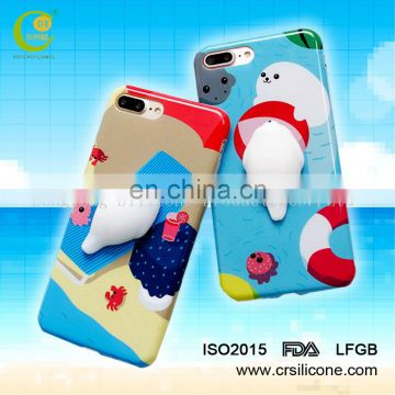 New Product Custom 3D Soft TPU IMD Phone Case Squishy Phone Case for iPhone 7