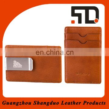 Verified Suppliers excellent Handmade Money Clip Leather Wallet