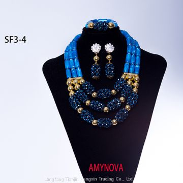 African Jewelry Set Wedding 2018 Green Bridal Necklace Set