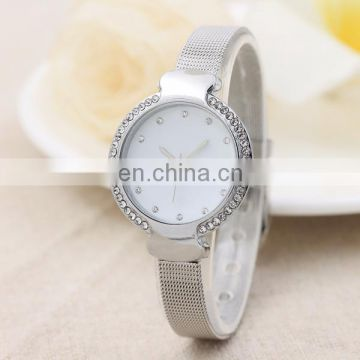 Wholesale women watch rhinestone quartz watch gold plated wrist watch