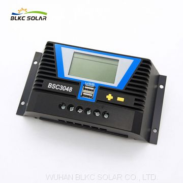 BSC3024/BSC3048 PWM 30A Solar Panel Charge Controller 12V 24V 36V 48V Auto with USB