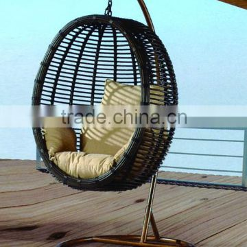 outdoor furniture egg chair with ottoman rattan swing basket