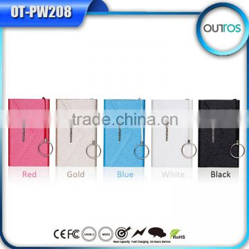 New Hot Products of 2015 Fast Battery Charger Ultra Slim Power Bank with LED Indicator