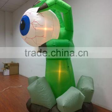 DJ-XT-72 inflatable giant monster hand with eyeball yard decoration new animation scene