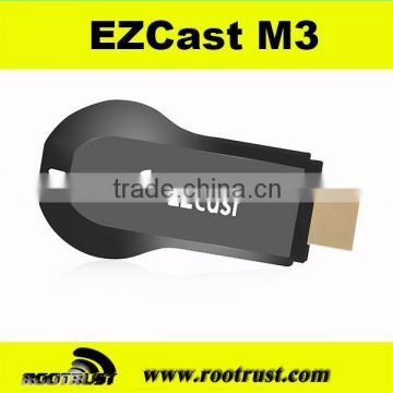 M3 ezcast wifi display miracast smart tv dongle stick for smartphone support DLNA airplay android tv box                                                                         Quality Choice