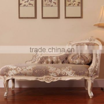 luxury french rococo style mahogany wood living room chaise lounge