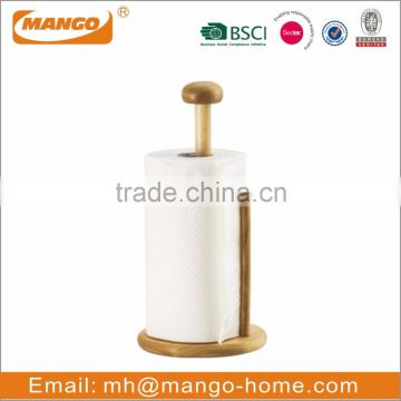 Hot Sale High Quality Free Standing Wooden Kitchen Paper Towel Holder
