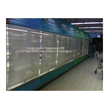 chain stores refrigeration display showcase night curtain