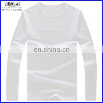Peijiaxin Casual Style Long Sleeve O-neck Cotton Mens Plain OEM Tshirt