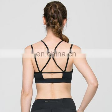 High quality cotton and polyester women sexy yoga fitness bra sports bra top