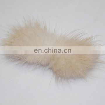 Fashion style mink fur accessory for decoration handmade fur charm