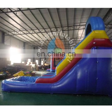 Mini inflatable blue water slide for kids,children slide,ueed swimming pool slide