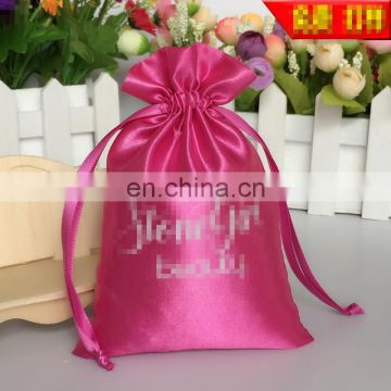 Wholesale cheap hair extension packaging satin bag hair extension packaging