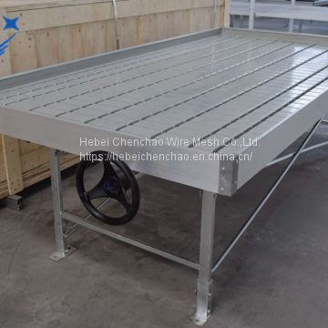 Hydroponic farm premium ABS 4ft X 8ft ebb and flow table with steel benches