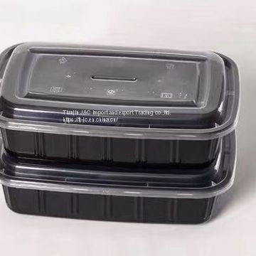 American type rec. high lid disposable food container 1000ml