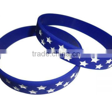Flexible star bracelets wholesale silicone rubber bracelets with charms all kinds of bracelet