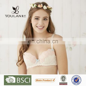 OEM Supplier Latest Hot Small In Lace Sweet Girl Tube Top Girls Bra