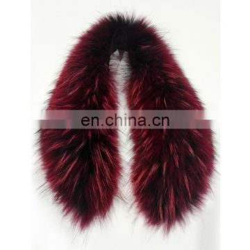 2016 top grade jumbo raccoon fur collar all-match fur collar for lady coat