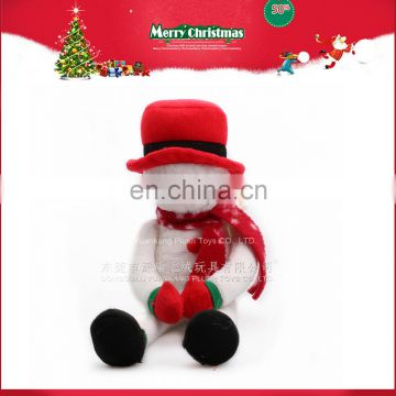 Christmas Plush Doll Snowman Promotional Gift 2016