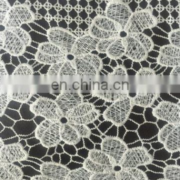 300D milky yarn water soluble lace fabric