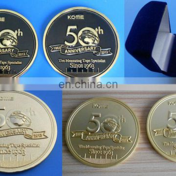 company 50 years anniversary customized metal logo coin