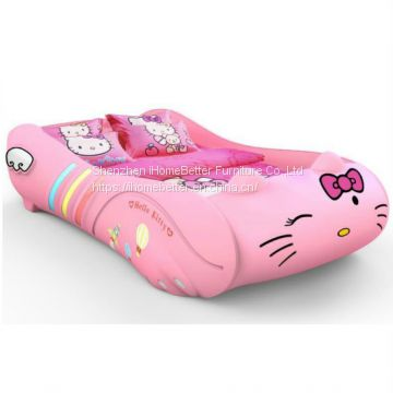 Hellokitty Race Car Bed Kid Car Bed For Girls Of Kids