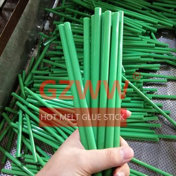 GZWW Colorful 7mm 11mm Diameter Green Hot Melt Glue Stick