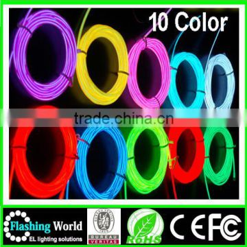 whoelsale crazy funny el lightingg colourful wire