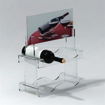 Eco-Friendly Bottle Holder Vertical Wine Bottle Racks Red Wine Display Stand