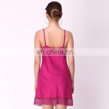 Lace Cup Nightdress In Cherry