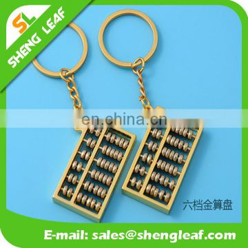 promotional gifts abacus funny shaped metal keychain with keyrings