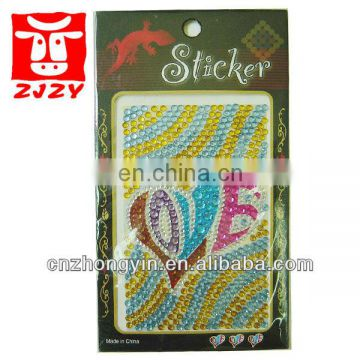 Newest Mobile phone Rhinestone Sticker (ZY2-001)
