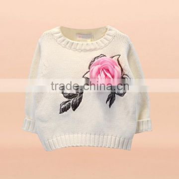 New Design Baby Girl Spotted Chirstmas Sweaters Wholesale Woolen