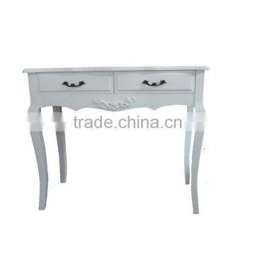 french design white color wood desk, reading table