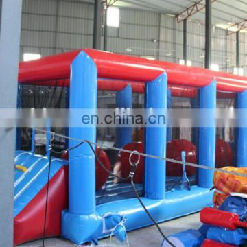 Hot sale PVC 0.55mm material inflatable wipeout games inflatable wipe out HT012
