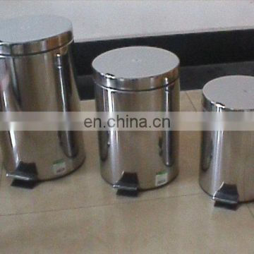 2014 round stainless steel waste paper bins
