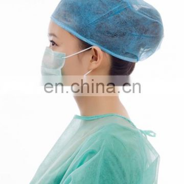 Surgeon dustproof PP 2 ply 3 ply face mask with earloop