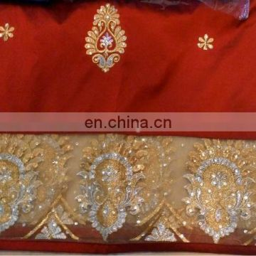 2cd824361f19fe Stones Handwork Nigerian African New Design 100 % Raw Silk George Fabric  Wrapper of George from China Suppliers - 158151018