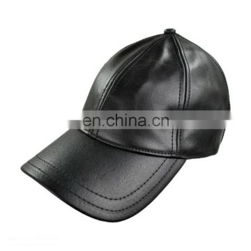 High quality leather driving cap classical black Baseball Cap