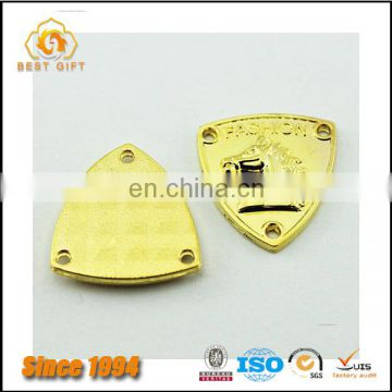 Guangdong Factory Wholesale Custom Cheap Hardware Bag Accessories Gold Alphabet Pendant Logo Plate