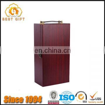TOP SUPPLIER Rosewood Wooden Wine Box with Handle for 2 Bottles