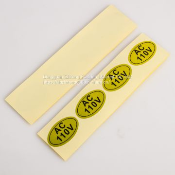 Self adhesive clothing sticker label custom warranty label sticker