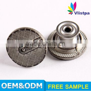 Free sample SGS certificated colorful paint zinc alloy remove metal jeans button