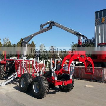 ZM5004 log loader trailer with loading capacity 5TON