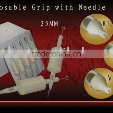 "Tattoo Disposable Tube Tips Grips with Needle 1""(25MM)"