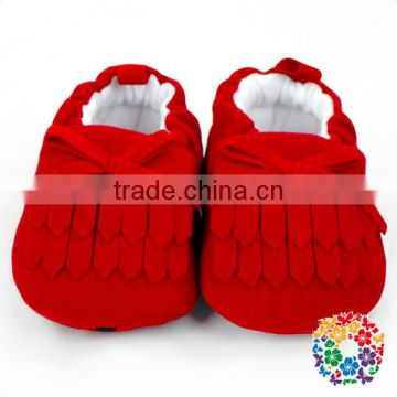 Red Bow Fringe Newborn baby Warm Winter shoes Wholesale