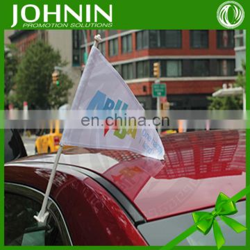 2016 New Design Sport Promotional Plastic Pole Polyester Car Flags