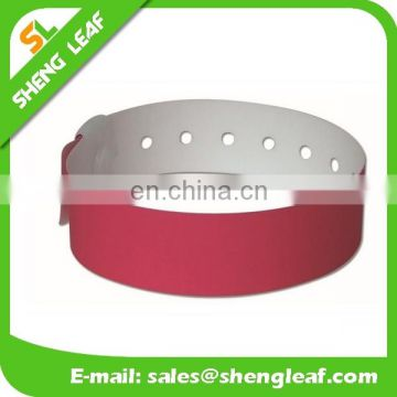 Colorful and adjustable tyvek paper wristbands for sale or activity