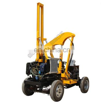 Factory directly diesel drive guardrail pile driver 40kw pile driver