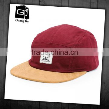 505959610bfc6 High quality label patch sude bill hat custom leather   metal buckle wholesale  5 panel hats of 5 Panel Cap from China Suppliers - 103217961